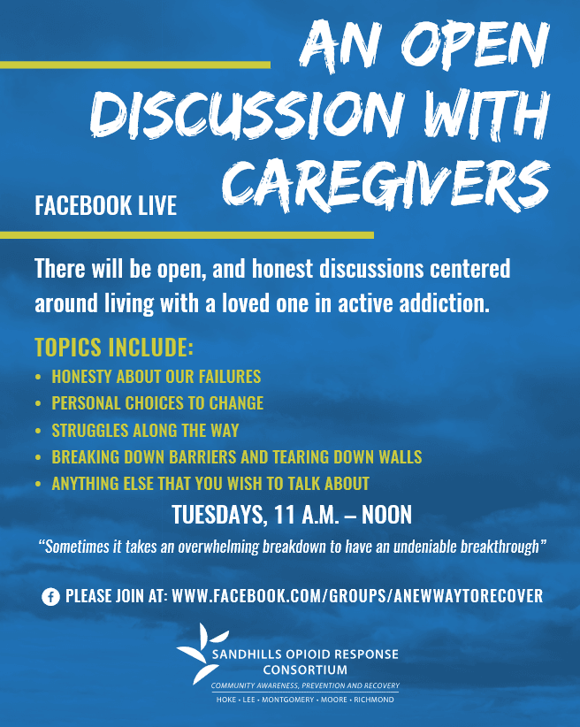 FB Live Open Discussion for Caregivers of Addicts